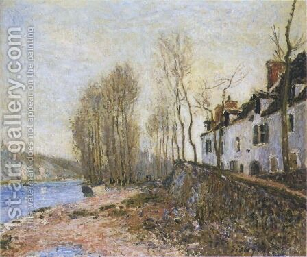 Saint Mammes in Winter by Alfred Sisley - Reproduction Oil Painting