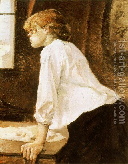 The Laundry Worker by Toulouse-Lautrec - Reproduction Oil Painting