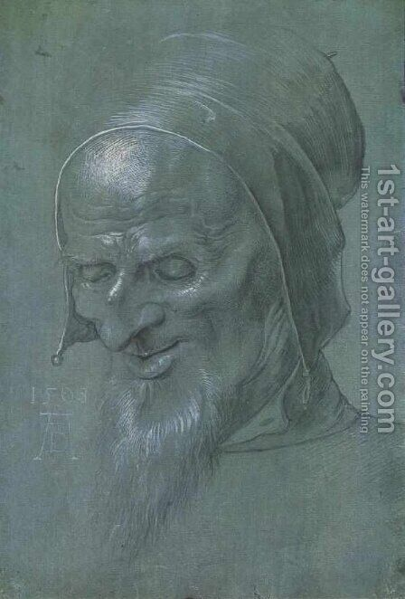 Head of a apostle by Albrecht Durer - Reproduction Oil Painting