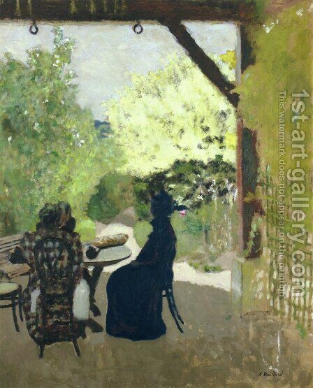 Under the Portico by Edouard  (Jean-Edouard) Vuillard - Reproduction Oil Painting