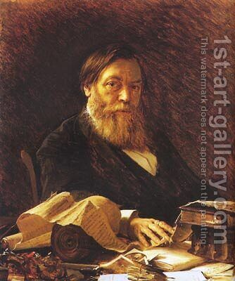 Russian writer Pavel Melnikov by Ivan Nikolaevich Kramskoy - Reproduction Oil Painting