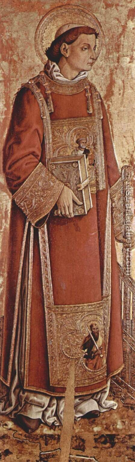 Saint Laurenzius by Carlo Crivelli - Reproduction Oil Painting