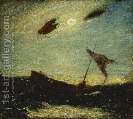 Moonlight by Albert Pinkham Ryder - Reproduction Oil Painting