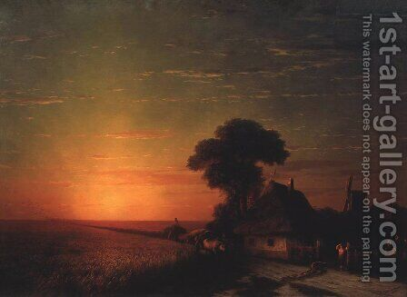 Sunset in Little Russia by Ivan Konstantinovich Aivazovsky - Reproduction Oil Painting