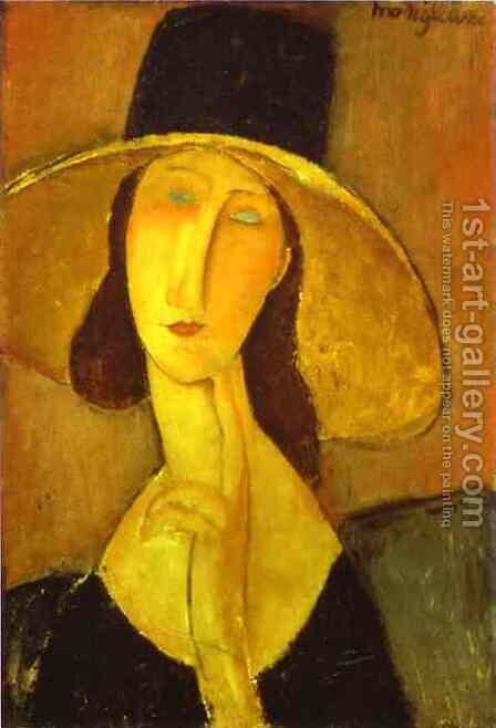 Head of a Woman by Amedeo Modigliani - Reproduction Oil Painting