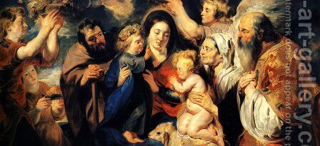 The Holy Family and child St. John the Baptist by Jacob Jordaens - Reproduction Oil Painting