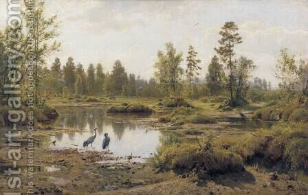Marsh. Polissia by Ivan Shishkin - Reproduction Oil Painting