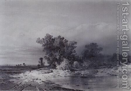 Clearance by Alexei Kondratyevich Savrasov - Reproduction Oil Painting