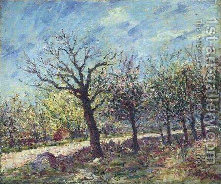 Sablons in Spring by Alfred Sisley - Reproduction Oil Painting