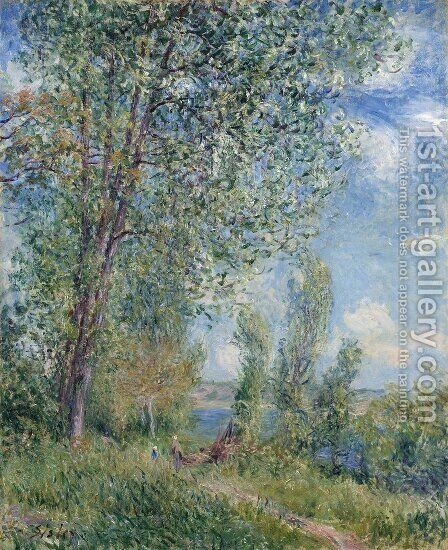 Windy Afternoon in May by Alfred Sisley - Reproduction Oil Painting