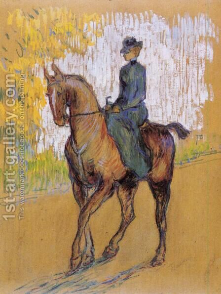 Amazone by Toulouse-Lautrec - Reproduction Oil Painting