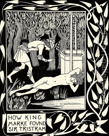 How King Marke Found Sir Tristram by Aubrey Vincent Beardsley - Reproduction Oil Painting