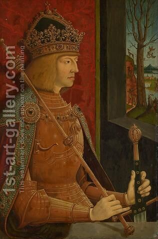 Maximilian I (1459-1519) by Bernhard Strigel - Reproduction Oil Painting