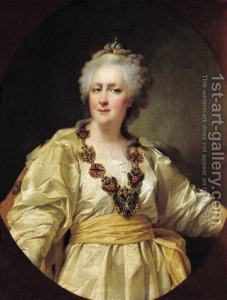 Portrait of Catherine II of Russia by Dmitry Levitsky - Reproduction Oil Painting