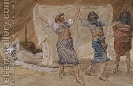Noah's Drunkenness by James Jacques Joseph Tissot - Reproduction Oil Painting