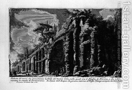 The Roman antiquities, t. 1, Plate XXIV. Celio o Oppio. The Seven Halls. Baths of Trajan. by Giovanni Battista Piranesi - Reproduction Oil Painting
