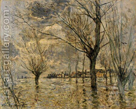 Vetheuil, L'Inondation by Claude Oscar Monet - Reproduction Oil Painting