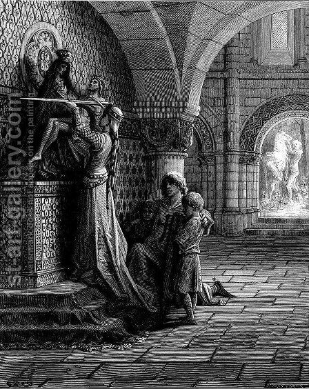 For the Defense of Christ by Gustave Dore - Reproduction Oil Painting
