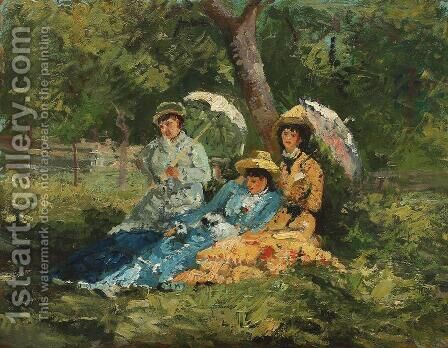 In the Park by Ion Andreescu - Reproduction Oil Painting
