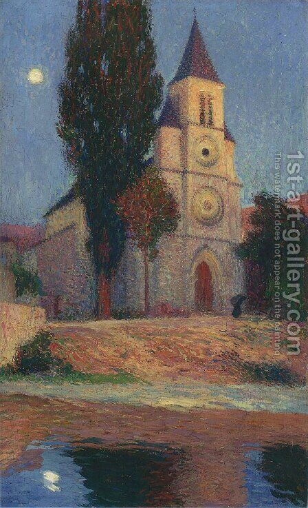 Church by the River 2 by Henri Martin - Reproduction Oil Painting