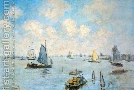 The Sea at Amsterdam by Claude Oscar Monet - Reproduction Oil Painting