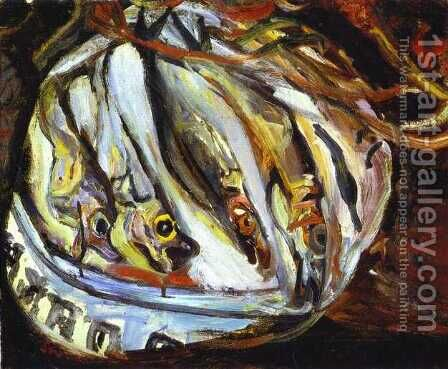 Still Life with Fish by Chaim Soutine - Reproduction Oil Painting