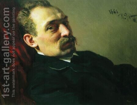 Portrait of the architect Philip Dmitrievich Hloboschin by Ilya Efimovich Efimovich Repin - Reproduction Oil Painting