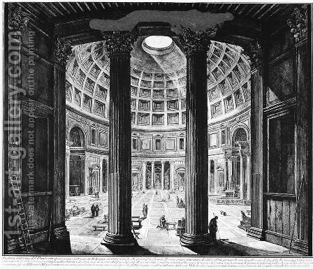 Vedute di Roma 108 by Giovanni Battista Piranesi - Reproduction Oil Painting