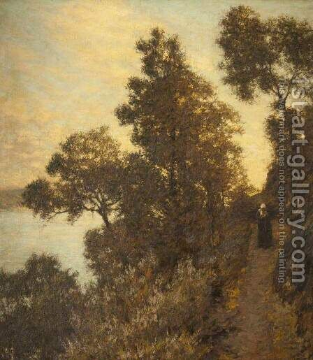 Ligurian Bridle Path by Henry Herbert La Thangue - Reproduction Oil Painting