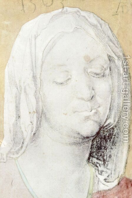Head of Mary 2 by Albrecht Durer - Reproduction Oil Painting