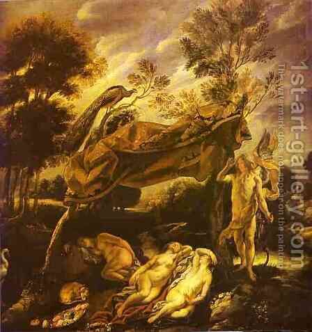 Cupid and Sleeping Nymphs by Jacob Jordaens - Reproduction Oil Painting