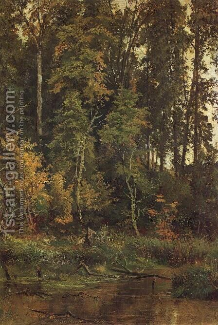 Go to the autumn by Ivan Shishkin - Reproduction Oil Painting