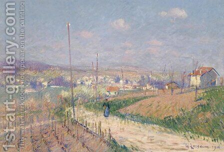 Village in Spring by Gustave Loiseau - Reproduction Oil Painting