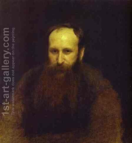 Portrait of the Artist Vasily Vereshchagin by Ivan Nikolaevich Kramskoy - Reproduction Oil Painting