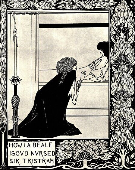 How La Beale Isoud Nursed Sir Tristram by Aubrey Vincent Beardsley - Reproduction Oil Painting