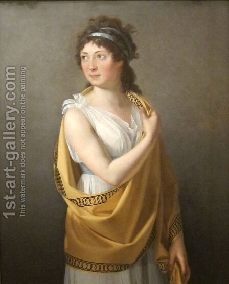 Portrait of a Lady by Marie-Guillemine Benoist - Reproduction Oil Painting