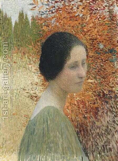 Portrait of a woman by Henri Martin - Reproduction Oil Painting