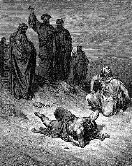 Death Of Ananias by Gustave Dore - Reproduction Oil Painting