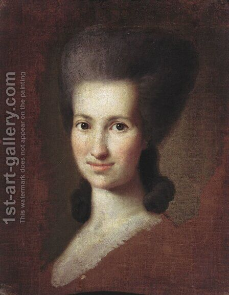 Portrait of a Woman 2 by Carl-Ludwig Christinek - Reproduction Oil Painting