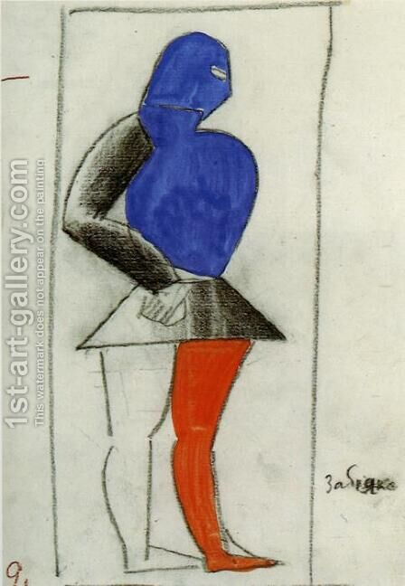 Brawler by Kazimir Severinovich Malevich - Reproduction Oil Painting