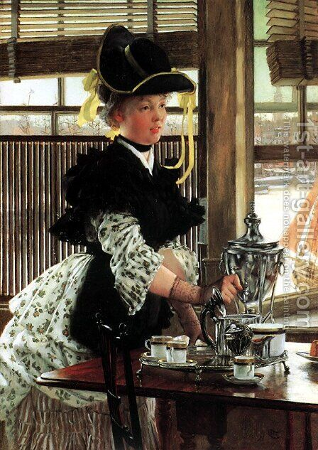 Tea Time by James Jacques Joseph Tissot - Reproduction Oil Painting