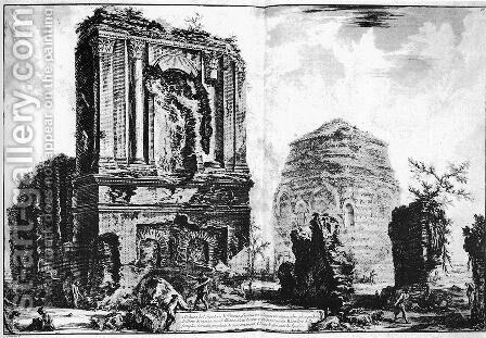 Vedute di Roma 110 by Giovanni Battista Piranesi - Reproduction Oil Painting