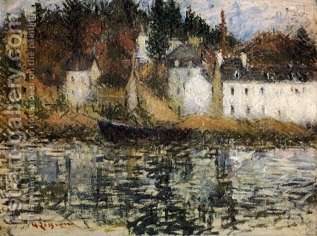 The Quay at Pont Aven by Gustave Loiseau - Reproduction Oil Painting