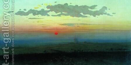 Sunset in the steppes by Arkhip Ivanovich Kuindzhi - Reproduction Oil Painting
