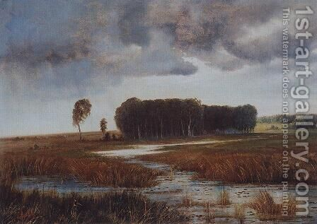 Landscape with marsh and wooded islands by Alexei Kondratyevich Savrasov - Reproduction Oil Painting