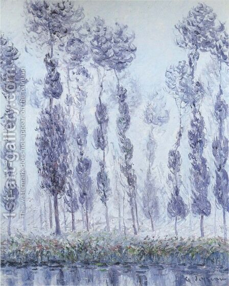 Poplars by the Eure River by Gustave Loiseau - Reproduction Oil Painting
