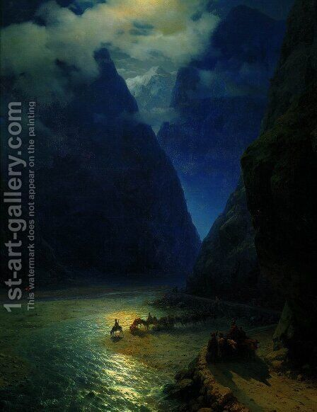 Darial Gorge 3 by Ivan Konstantinovich Aivazovsky - Reproduction Oil Painting