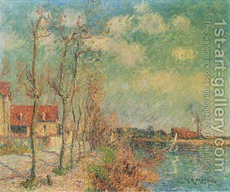 By the Oise River by Gustave Loiseau - Reproduction Oil Painting