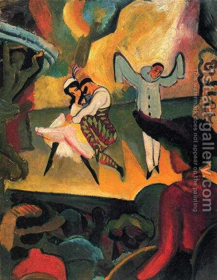 Russisches Ballett (I) by August Macke - Reproduction Oil Painting