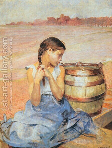 Poisoned Well I 2 by Jacek Malczewski - Reproduction Oil Painting